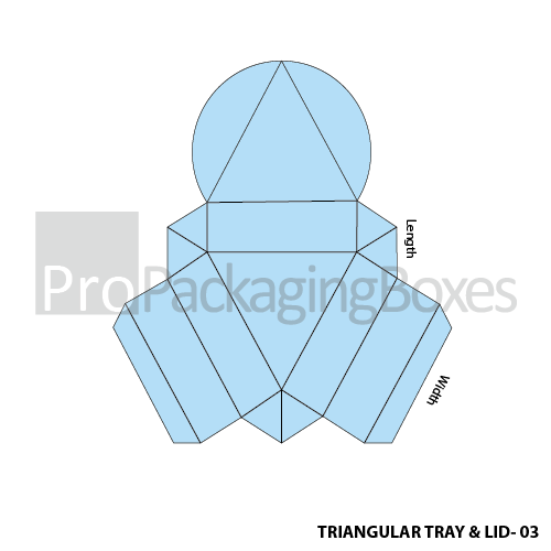 Triangular Tray with Lid Boxes - Template View
