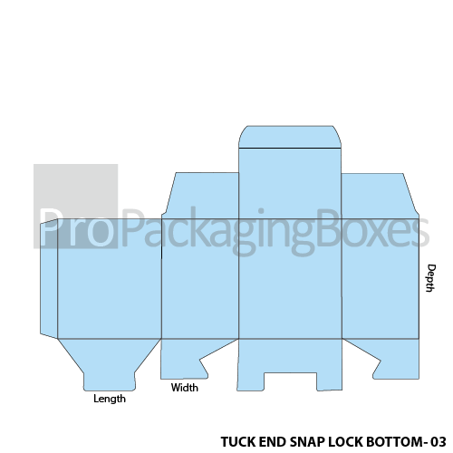 Personalized Tuck End Snap Lock Bottom Boxes Template View