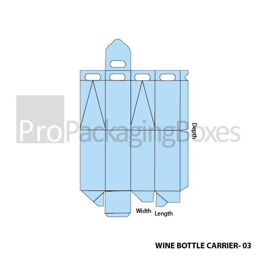 Personalized Wine Bottle Carriers Template View