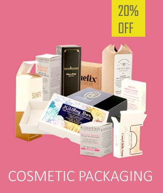 20% Off on Personalized Cosmetic Packaging Banner Homepage