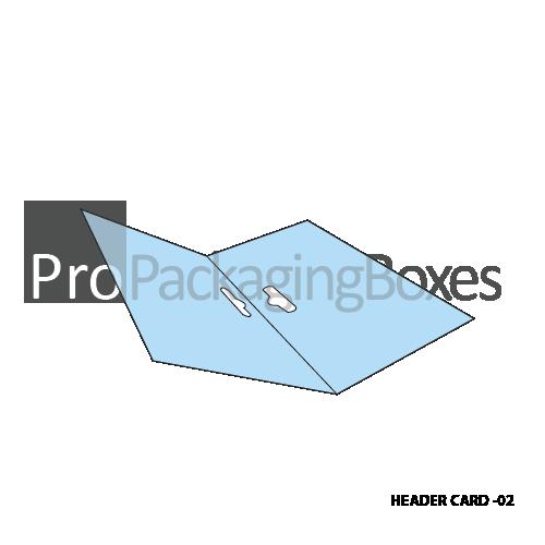 Custom Printed Header Cards - Open View